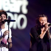 Louis Tomlinson dan Harry Styles (AFP/COOPER NEILL / GETTY IMAGES NORTH AMERICA)