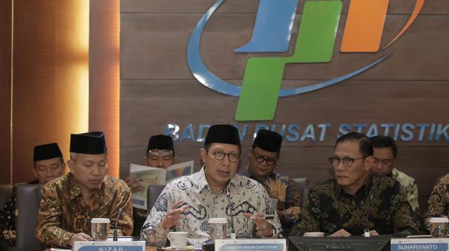 Menteri Agama Lukman Hakim Saifuddin di Kantor BPS, Jakarta. Dok Kemenag