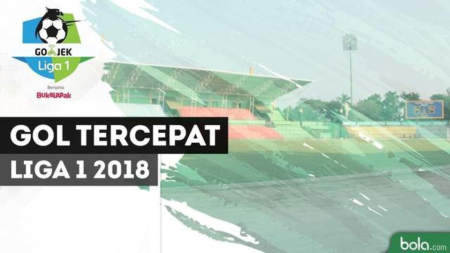 Bek Persija Jakarta, Vava Mario Yagalo mencetak gol tercepat di Liga 1 2018 saat menghadapi PS Tira.
