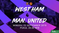 Premier League - West Ham United Vs Manchester United (Bola.com/Adreanus Titus)