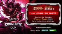 Streaming Vidio Community Cup Season 5 : Mobile Legends Series 9. (Sumber : dok. vido.com)