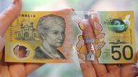 Uang kertas 50 dolar Australia ditemukan terdapat kesalahan cetak. (RESERVE BANK OF AUSTRALIA)