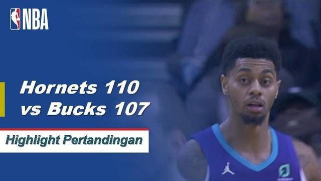 Kemba Walker and Jeremy Lamb both drop 21 points in a close win over the Bucks 110-107