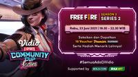Link Live Streaming Vidio Community Cup Ladies di Vidio Free Fire Series 2 Rabu 23 Juni. (Sumber : dok. vidio.com)