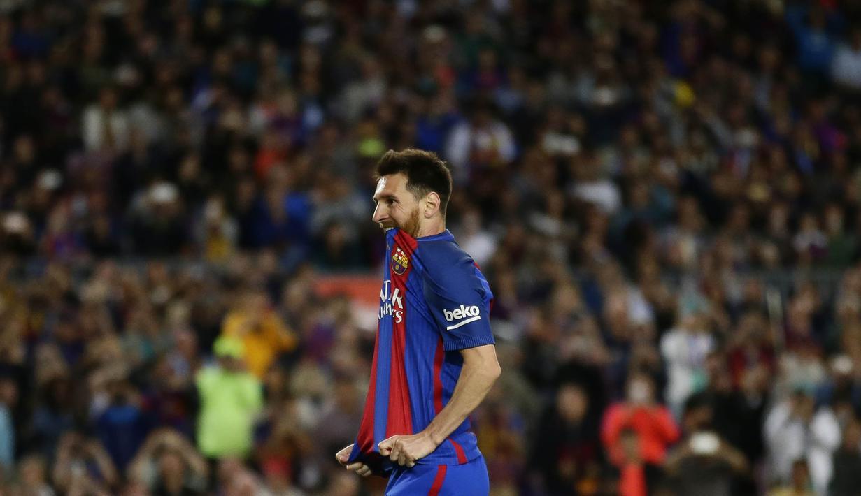 FOTO Ekspresi Kecewa Messi Setelah Gagal Raih Juara La Liga