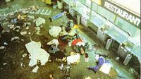 Kondisi Bandara Internasional Leornado da Vinci setelah serangan teroris di dekat restoran cepat saji. (source: wikipedia.org)