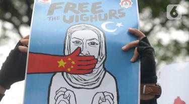 Massa Aksi Bela Muslim Uighur
