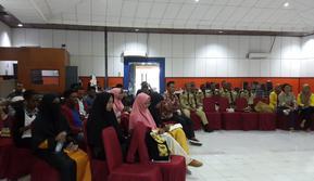 Mahasiswa mahasiswi dari berbagai kampus di Sorong mengikuti pelatihan jurnalistik di Auditorium RRI Sorong