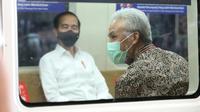 Ganjar usai mendampingi Presiden Joko Widodo saat mencoba KRL Jogja-Solo.