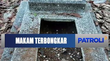 Warga Tasikmalaya, Jawa Barat, digegerkan dengan 25 makam yang terbongkar.