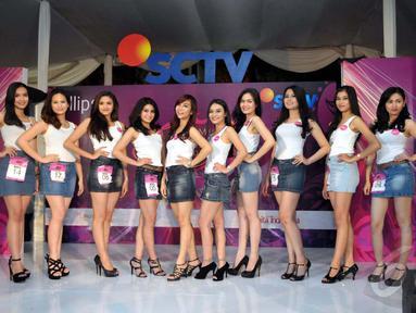 Akhirnya audisi Miss Celebrity 2014 di kota Bandung, selesai sudah setelah diumumkan 10 finalis, Cihampelas Walk, Bandung, Minggu (28/9/2014) (Liputan6.com/Panji Diksana)