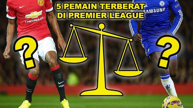 Video pemain sepak bola dengan berat badan terberat di Premier League versi Talksport, salah satunya Romelu Lukaku dengan berat badan 94 KG.