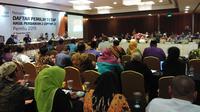 rapat pleno terbuka rekapitulasi Daftar Pemilih Tetap (DPT) hasil perbaikan 2. (Liputan6.com/Ady Anugrahadi)