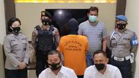 Jumpa press kasus pencabulan dosen di Polres Penajam Paser Utara.