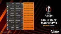 Jadwal  dan Live Streaming Liga Europa 2021/2022 Matchday 3 di Vidio Pekan Ini. (Sumber : dok. vidio.com)
