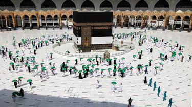 FOTO: Jemaah Mulai Rangkaian Ibadah Haji 2021