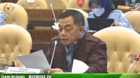 Sekretaris Jenderal Kementerian Kelautan dan Perikanan (KKP) Antam Novambar, dalam RDP dengan Komisi IV DPR RI, Senin (6/9/2021).