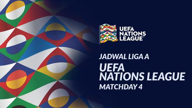Berita motion grafis jadwal UEFA Nations League Liga A matchday 4. Italia ditantang Belanda pada Rabu (14/10/20) di Stadion Gewiss Stadium, Bergamo.