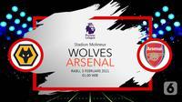 Wolverhampton Wanderers vs Arsenal (Liputan6.com/Abdillah)