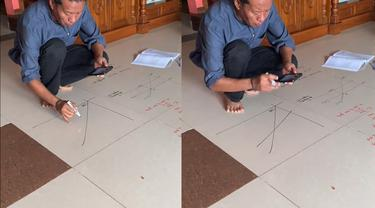 Kreativitas seorang guru mengajar murid-murid di tengah pandemi COVID-19.