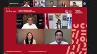 Konferensi Pers Perayaan Bulan Kemerdekaan di Rumah Digital Indonesia. (Tangkapan layar Zoom).