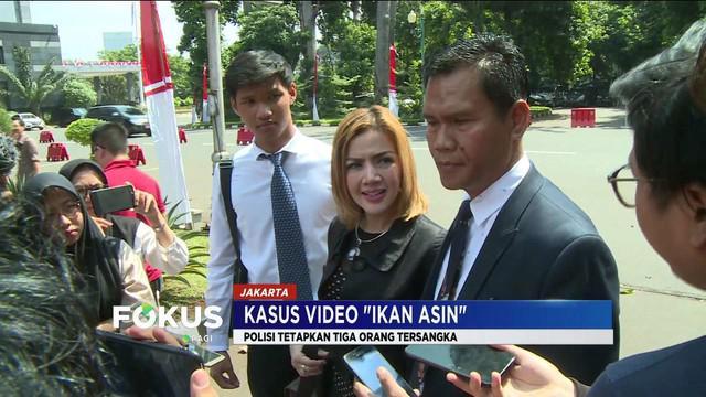 Polisi tetapkan artis Galih Ginanjar serta youtuber Pablo Benua dan Rey Utami jadi tersangka kasus video 'ikan asin'.