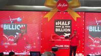 Air Asia menorehkan prestasi gaet 500 juta penumpang (Foto: Liputan6.com/Muhammad Ali)