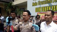 Polresta Yogyakarta gelar perkara aksi penembakan siswa SMA dengan pistol air gun. (Liputan6.com/Yanuar H)