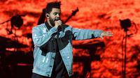 The Weeknd di Billboard Music Awards 2016. (Foto: AFP / SUZANNE CORDEIRO)