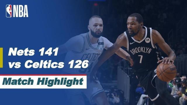 Berita video highlights game 4 babak awal wilayah timur NBA Playoffs 2021 antara Boston Celtics melawan Brooklyn Nets, di mana Jayson Tatum mencetak 40 poin, sedangkan Kevin Durant 42 poin, Senin (31/5/2021) pagi hari WIB.