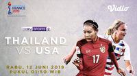 Piala Dunia Wanita 2019 USA Vs Thailand