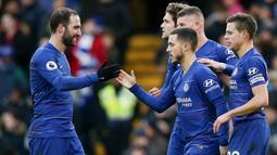 1. Chelsea - The Blues menjadi klub terboros sepanjang bursa transfer musim dingin 2018/2019. Chelsea menggelontorkan 73 juta euro untuk membeli 7 pemain, yang termahal adalah Christian Pulisic seharga 50 juta euro. (AFP/Daniel Leal-Olivas)