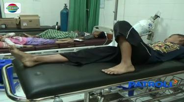 55 warga Kampung Sawah Bogor, dilarikan ke rumah sakit usai menyantap tutut di warung dekat permukiman setempat.