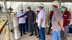 Menindaklanjuti arahan Kementerian Perindustrian dan Kementerian BUMN, PT Pupuk Kalimantan Timur (PKT) memaksimalkan untuk membantu penanganan Covid-19 dengan menambah ketersediaan oksigen medis di kawasan pabrik PKT. (Liputan6.com/HO/PKT).