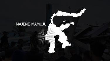 Banner Infografis Gempa Beruntun dan Kuat Guncang Majene - Mamuju. (Liputan6.com/Trieyasni)