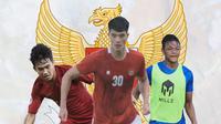 Timnas Indonesia - Witan Sulaeman, Elkan Baggott, Saddam Gaffar (Bola.com/Adreanus TItus)