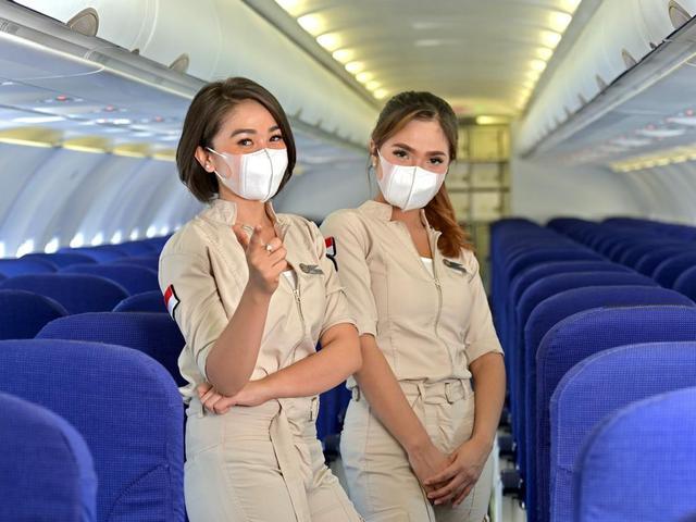 Potret Pramugari Super Air Jet, Maskapai Baru Bergaya Milenial - Bisnis  Liputan6.com