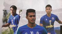 Hanif Sjahbandi, Muhammad Rafli dan Bagas Adi Nugroho. (Bola.com/Dody Iryawan)