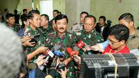Panglima TNI Marsekal Hadi Tjahjanto saat berada di Gedung DPR/MPR, Jakarta, Kamis (30/1/2020). (Puspen TNI)