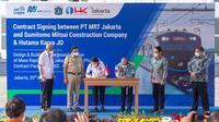 Kontrak proyek MRT Jakarta Fase 2A (Bundaran HI- Kota) ditandatangani (dok: MRT)