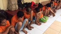 Para tersangka pembunuhan Sungai Deli (Liputan6.com / Reza Efendi)