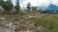 Lokasi likuefaksi atau tanah bergerak di Palu, Sulawesi Tengah. (Liputan6.com/Nanda Perdana Putra)