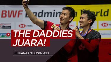 Berita video ganda putra Indonesia, Mohammad Ahsan / Hendra Setiawan menjadi juara di Kejuaraan Dunia 2019 setelah pada partai final mengalahkan pasangan Jepang, Takuro Hoki / Yugo Kobayashi