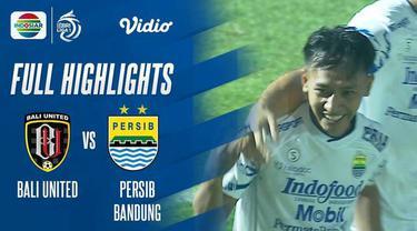 Berita Video, Highlights Pertandingan Bali United Vs Persib Bandung pada Sabtu (18/9/2021)