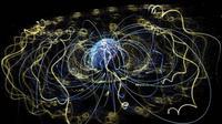 Di sekitar Bumi, medan magnet tak terlihat memerangkap elektron dan partikel bermuatan lainnya (Pusat Penerbangan Luar Angkasa Goddard NASA)