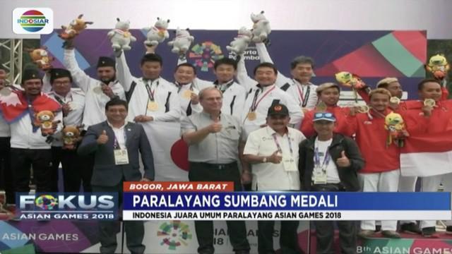 Cabang olahraga paralayang sumbang dua medali perunggu di nomor cross country atau lintas alam.