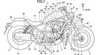 Bocoran paten yang diyakini Honda Rebel 1100. (Bennetts)
