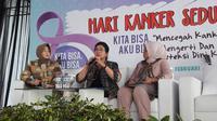 Menteri Kesehatan RI Nila F Moeloek berbicara soal kanker serviks di  Museum Seni Rupa dan Keramik, Kota Tua, Jakarta. (Kementerian Kesehatan RI)
