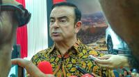 Chairman Mitsubishi, Carlos Ghosn datang ke Indonesia untuk meresmikan pabrik baru.