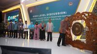 Gubernur Bank Indonesia Perry Warjiyo dalam acara Indonesia Sharia Economic Festival (ISEF) di Grand City, Surabaya, Selasa (11/12/2018).